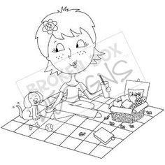 free Picnic Toodle (Digi Stamp)