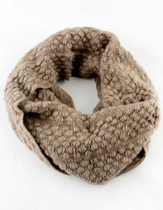 Khaki Twisted Ball Knit Scarf