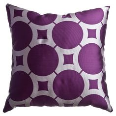 I pinned this Element Circle Pillow in Purple from the Softline event at Joss and Main!