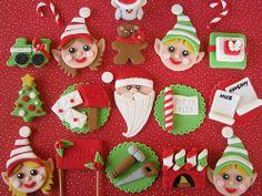 Santa's Workshop Cupcake Toppers