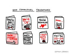 non-committal valentines by gemma correll