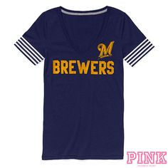 Loving this PINK @Milwaukee Brewers tee from the MLB shop!