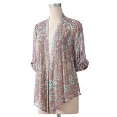 LC Lauren Conrad Floral Chiffon Jacket