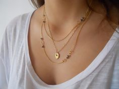 Gold Layered Necklace Set