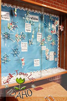 snowflake activity using pipe cleaners and paper circles