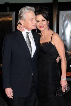 Michael Douglas and Catherine Zeta-Jones at Wall Street premiere