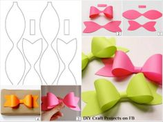 DIY Paper Bow    #craft #scrapbooking #giftwrapping #ideas #tutorial #pattern