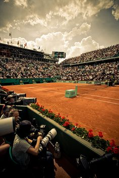 Philippe Chatrier tennis court @ Roland Garros