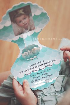 Vintage Mermaid Princess Birthday Party Invitations by PaperCandee. $4.00, via Etsy.