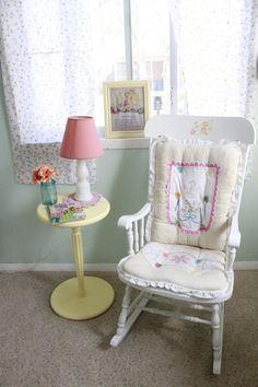 Vintage Girl Nursery Rocking Chair via Project Nursery.