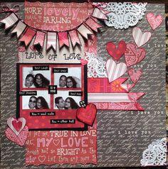 scrapbooking, valentine, love