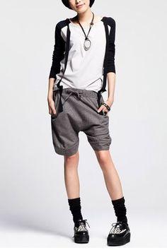 Chic Drawstring Knee-length Shorts $106.00