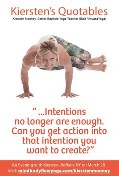 REGISTRATION CLOSING TODAY.  An evening of yoga with Kiersten Mooney.    CLICK IMAGE for details