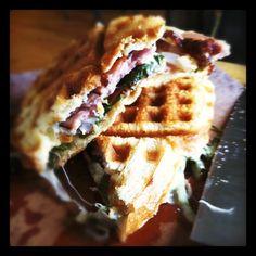 Waffle-Iron Ham and Cheese Paninis