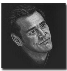 Charcoal Portraits Jim Carrey