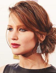 Red Carpet Hair: Jennifer Lawrence Updos