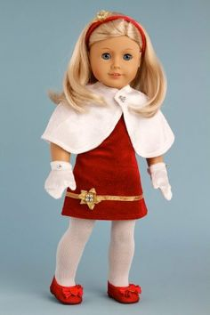 Cape and Mittens - White velvet cape and mittens with silver pearls (Dress sold separately) - 18 Inch Doll Accessories  Price : $10.97 http://www.dreamworldcollections.com/Cape-Mittens-mittens-separately-Accessories/dp/B005RT040U