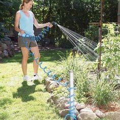 Hose reel on pinterest hose holder hose storage and garden hose hanger - Weeding garden make work easier ...