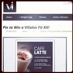 Check out how you could #Win a #fitkit on our newly designed blog! Just go to the#contest section on blog.visalus.com to enter :) #vilife #instagood #visalus