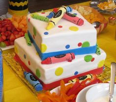 Crayon Birthday cake by Donutgirl, via Flickr