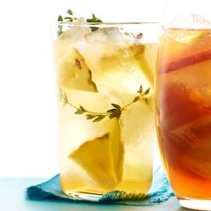 Pineapple and Thyme Iced Tea Recipe - Could this be good w/ vodka???