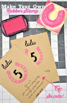 HGTV Crafternoon: How To Make A Custom Rubber Stamp