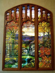Tiffany Window, Metropolitan Museum of Art, NYC
