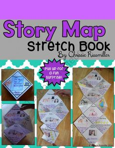 Story Map Stretch Book from Chrissie Rissmiller on TeachersNotebook.com -  (16 pages)  - Photo directions and black line masters for making a unique story map with your students.
