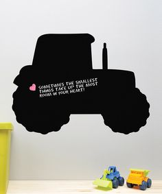 Take a look at this Tractor Chalkboard Decal on zulily today!