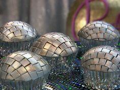 Disco Ball Cupcakes