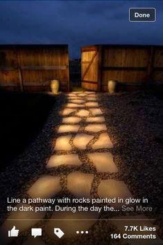 glow in the dark walkway