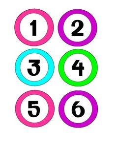 Neon colored number labels 1-30...perfect for classroom organization! :)