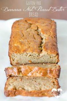 Gluten-free Banana Peanut Butter Bread has made my daughter sooo happy! It's a simple recipe that is moist, flavorful and easy! Enjoy! #glutenfree #bananabread #desserts