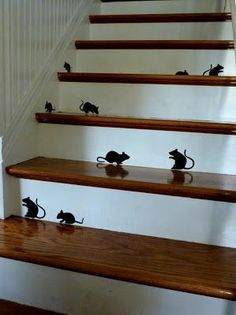 DIY Halloween : DIY Halloween mice silhouettes : DIY Halloween Decor
