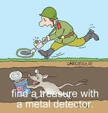 Find treasure with a metal detector! Yes please :D