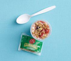 Snack: Pronto Parfait    Superfood: yogurt    One McDonald's Fruit 'n Yogurt Parfait
