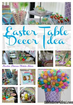 Check out this great Easter Table Decor idea to use for Easter!  easter table decor ideas, decor ideas, easter ideas