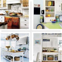 Don't settle for a cookie-cutter cook space. We're all looking to improve on what we've got without forking over fistfuls of cash. Here's how to use fresh paint and paper, vintage finds, and other smart buys to get made-to-order looks at off-the-shelf prices. kitchens, kitchen vision, cottag kitchen, remodel idea, kitchen redo, kitchen idea, kitchen makeovers, dream hous, old houses