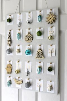 Easy Advent Calendar with Ornaments - we have a small tree where we place one ornament each night. holiday, ornament advent, christma ideastradit, easi advent, advent calendars, craft idea, trees, advent idea, ornaments