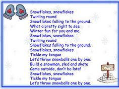 Snowflakes song and song chart - Pinned by @PediaStaff – Please visit http://ht.ly/63sNt for all (hundreds of) our pediatric therapy pins