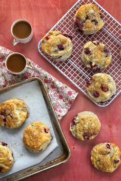 Fresh Cranberry & Meyer Lemon Scones from @joythebaker