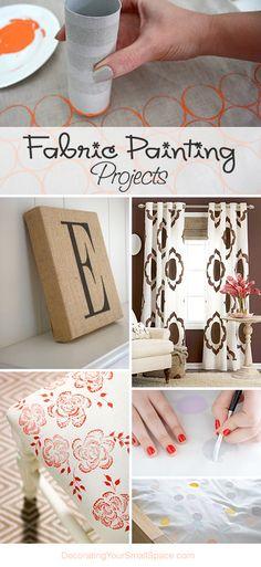 decor, creativ, crafti, fabric painting, art, hous, painting projects, paint projects, diy paint fabric