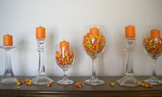 Awesome candle/candy corn decorations