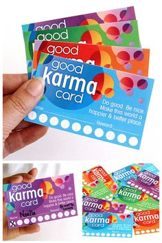 Why not reward good deeds. Print out these fun cards and bring on the good karma.