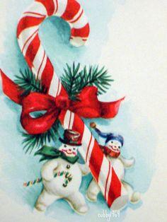 Snowman candy cane