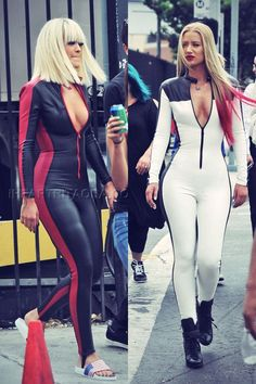 Rita Ora and Iggy Azalea on the set of their music video for Black Widow
