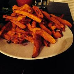 "Charlotte's Butternut Squash Fries | ""The seasoning on these was perfect, and the aioli suggestion was great too. I would have liked them a bit crispier, but that can be adjusted based on cooking time and thickness. Thanks for the recipe!"""