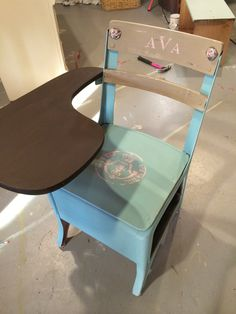 General FInishes Java Gel Stain, ASCP Provence, and Valspar with Webster's Chalk Paint Powder; rosettes via Chic Mouldings