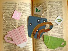 a teacup bookmark