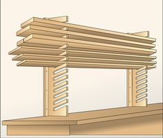 Easy-Access Stock Storage Woodworking Plan